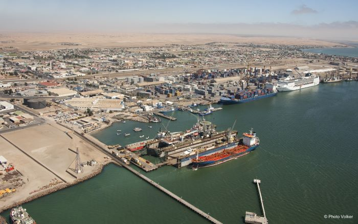 Port of Walvis Bay and the Namdock ship repair floating docks, featured in Africa PORTS & SHIPS maritime news