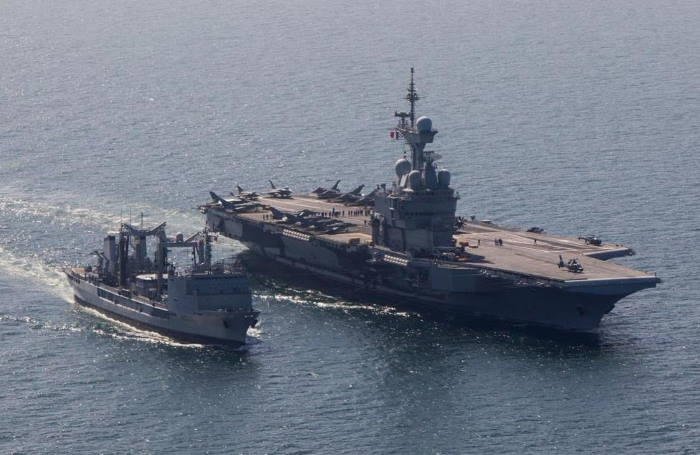 French Navy aircraft carrier FS Charles de Gaulle, featured in Africa PORTS & SHIPS maritime news