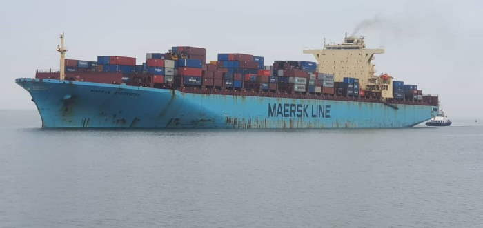 Maersk Sheerness, which became the largest ship to call at Walvis Bay, featured in Africa PORTS & SHIPS maritime news