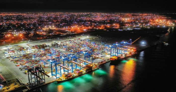 Tema's extended port, Terminal 3, operated by Meridian Port Services, featured by Africa PORTS & SHIPS maritime news