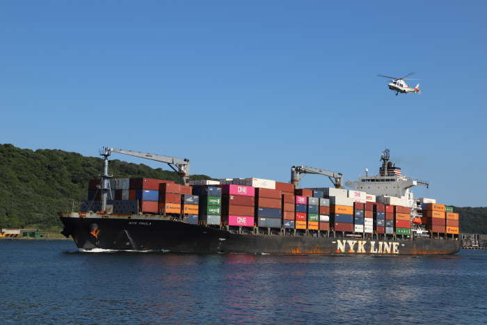 NYK Paula departing from Durban, March 2020. Picture by Keith Betts, appearing in Africa PORTS & SHIPS