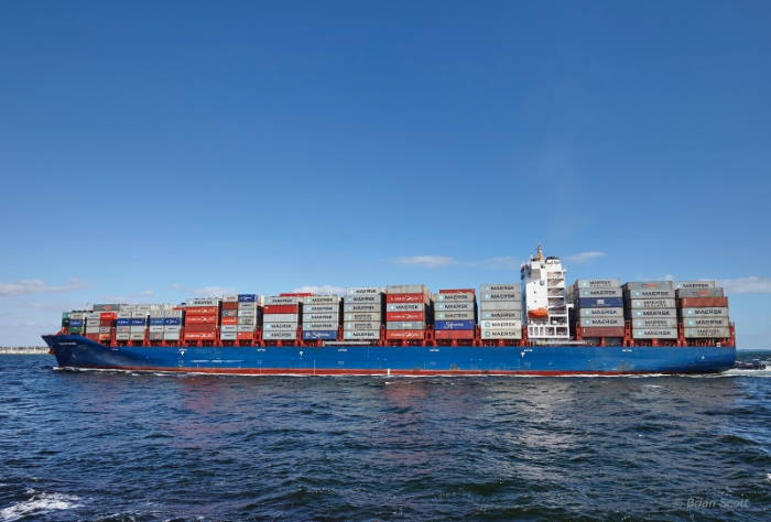 Container ship Tommi Ritscher, featuring in an ongoing piracy attack off the port of Cotonou, appearing in Africa PORTS & SHIPS maritime news
