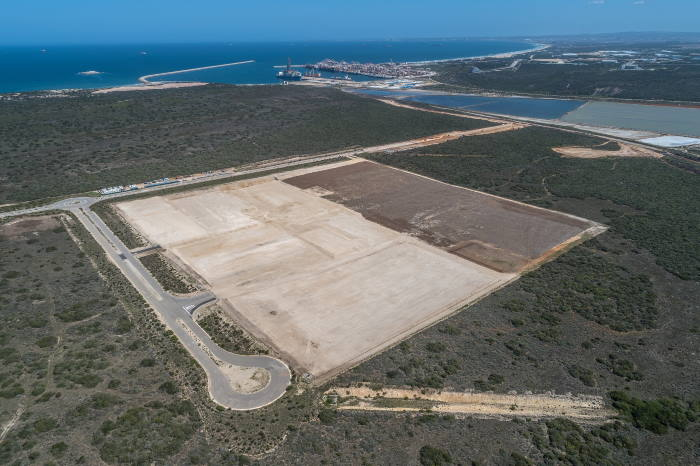 The completed earthworks of the Tank Farm site, by OTGC Pictures courtesy TNPA, featured in Africa PORTS & SHIPS maritime news