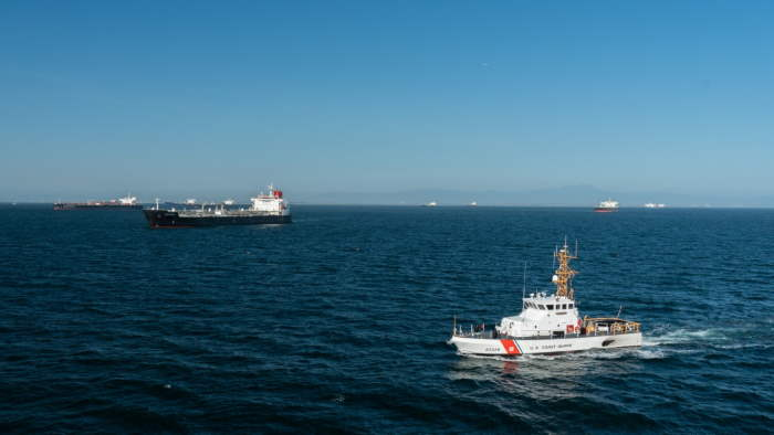 US Coast Guard Cutter Narwhal patrols the coast of Southern California, 23 April. The Coast Guard is the principal federal agency responsible for maritime safety, security and environment stewardship in US ports and waterways. US Coast Guard photo by Petty Officer 3rd Class Aidan Cooney, US Coast Guard District 11. USCG ©, featured in Africa PORTS & SHIPS maritime news