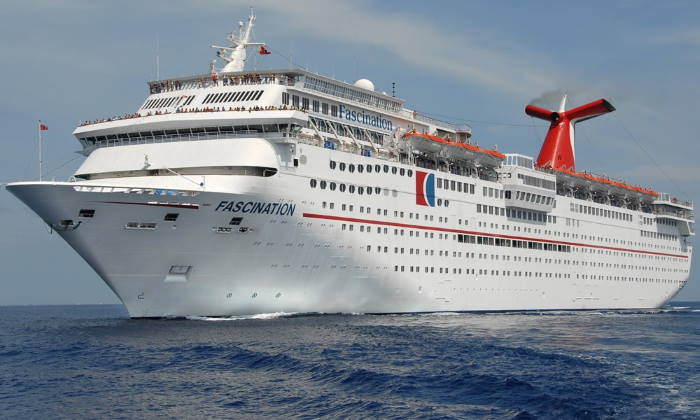Carnival Fascination, cruising towards South Africa, fgeatured in Africa PORTS & SHIPS maritime news