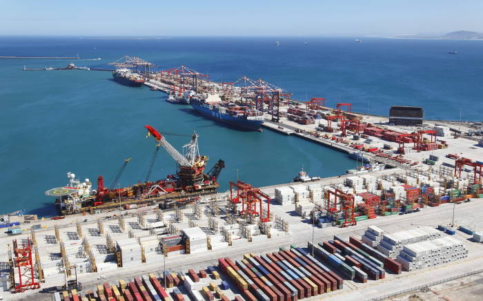 CapeTown Container Terminal. Picure: TNPA featured in Africa PORTS & SHIPS maritime news