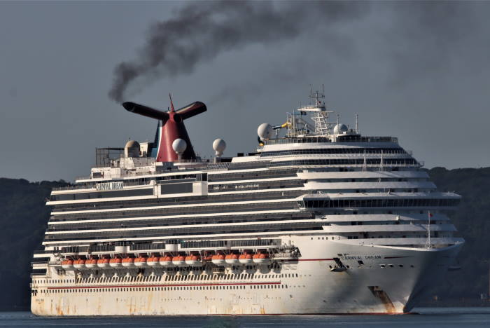 One can tell these cruise ships are no longer catering to a paying clientele, as rust marks show along the hull. These would ordinarily be painted out at port calls. This is Carnival Dream arriving in Durban on Sunday morning. Pictures: Keith Betts, featured in Africa PORTS & SHIPS maritime news