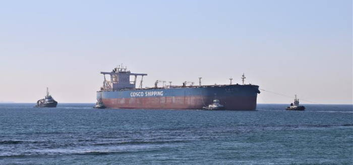 Yuan Hua Hu safely arriving in Durban. Pictures: Keith Betts, featured in Africa PORTS & SHIPS maritime news