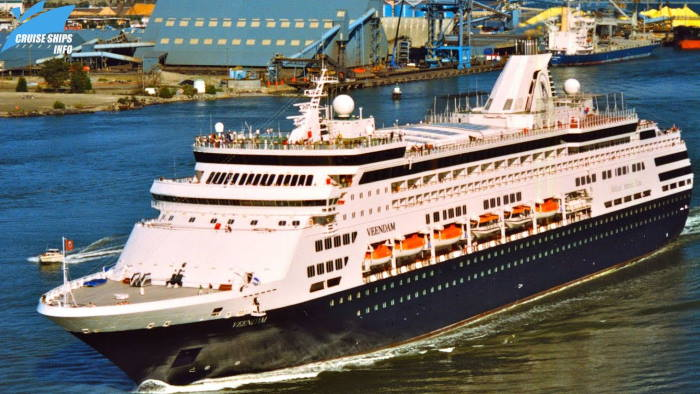 Holland America Line's Veendam, currently in Table Bay. image from YouTube, featured in Africa PORTS & SHIPS maritime news