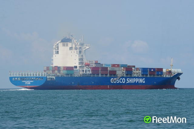 COSCO Sao Paulo. Picture: Fleetmon, featured in Africa PORTS & SHIPS maritime news
