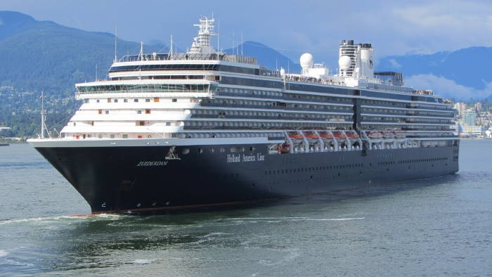 Holland America's Zuiderdam departed from Cape Town, featured in Africa PORTS & SHIPS maritime news