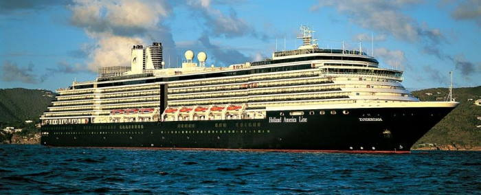 Holland America Line's Zuiderdam now at the Cape Town cruise terminal, featured in Africa PORTS & SHIPS maritime news