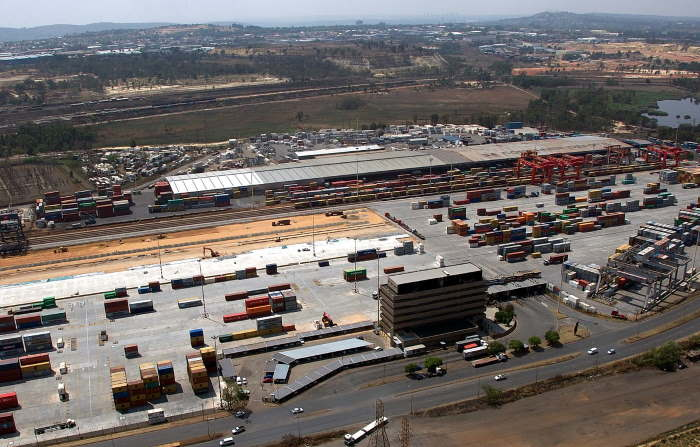 City Deep Inland Terminal in Gauteng, featured in Africa PORTS & SHIPS maritime news