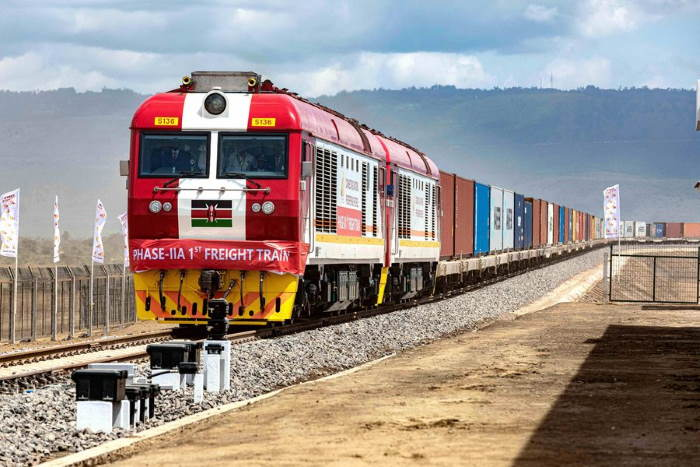 Naivasha-bound container train of Kenya Railways SGR. Picture: KR, featured in Africa PORTS & SHIPS maritime news