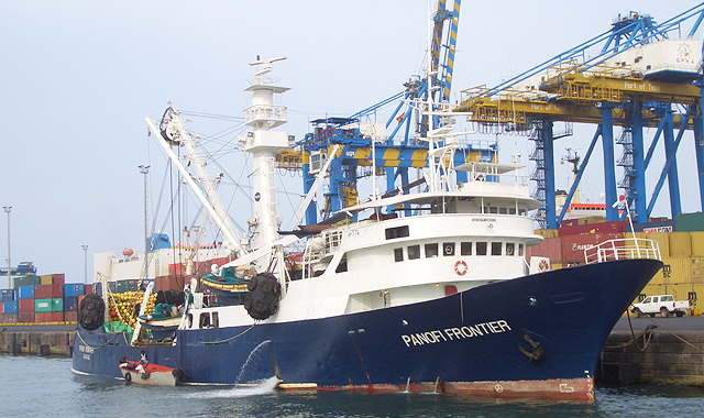 Tuna fishing vessel Panofi Frontier. Picture: Silla, featured in Africa PORTS & SHIPS maritime news