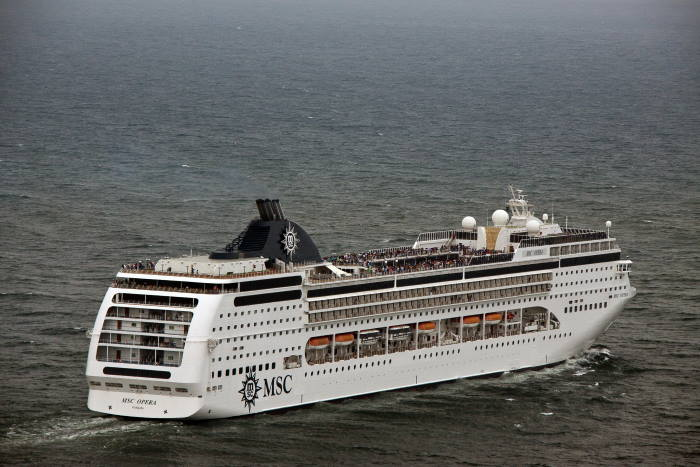 MSC Opera at Durban, picture Trevor Steenkamp, featured in Africa PORTS & SHIPS maritime cruise news