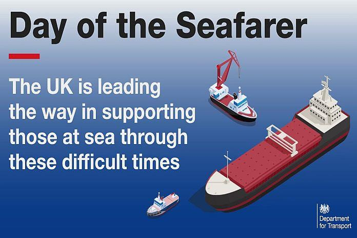 Day of the Seafarer banner on display in Africa PORTS & SHIPS maritime news