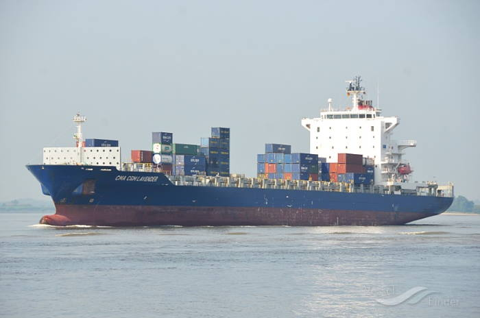 Montellier seen when sailing as CMA CGM Lavender. Picture: Fleetmon, featured in Africa PORTS & SHIPS maritime news