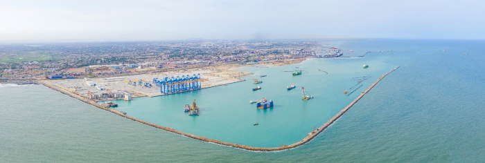 Ghana's new Meridian Terminal 3 at Tema, featuring in Africa PORTS & SHIPS maritime news