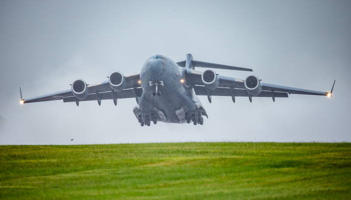 The RAF C-17 transport aircraft. Photographs MOD Crown Copyright 2020 featured in Africa PORTS & SHIPS maritime news
