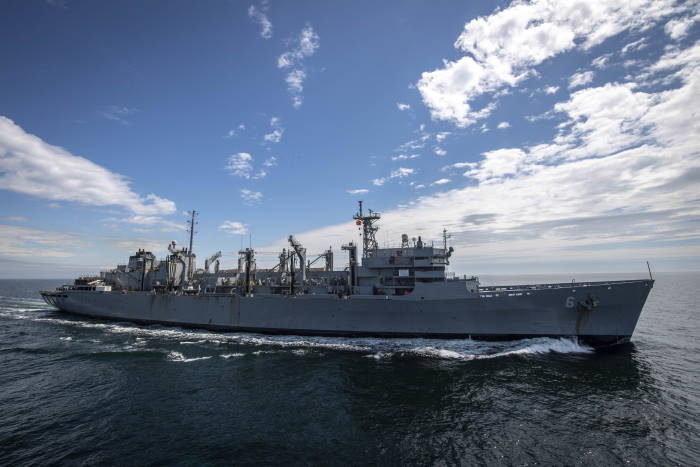 The fast-combat support ship USNS Supply (T-AOE 6) transits the Baltic Sea during exercise Baltic Operations (BALTOPS) 2020, on 16 June., featured in Africa PORTS & SHIPS maritime news