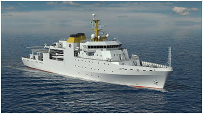 A Vard-designed hydrographic survey vessel, featured in Africa PORTS & SHIPS maritime news