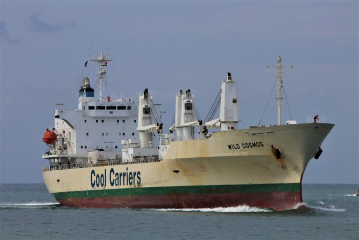 Refrigerated (reefer) vessel Wild Cosmos. Photographer : unknown, featured in Africa PORTS & SHIPS maritime news