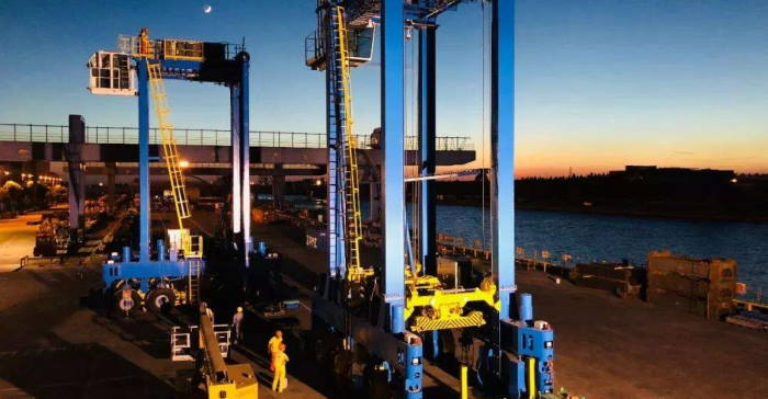 ZPMC intelligent straddle carriers, featured in Africa PORTS & SHIPS maritime news