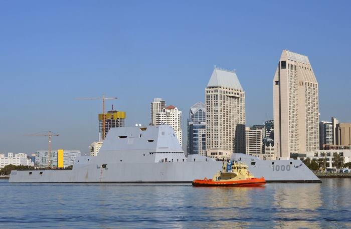 USS Zumwalt arriving at her homeport of San Diego in the USA. Picture is courtesy US Navy/Melissa K Russel/Released, featured in Africa PORTS & SHIPS maritime news