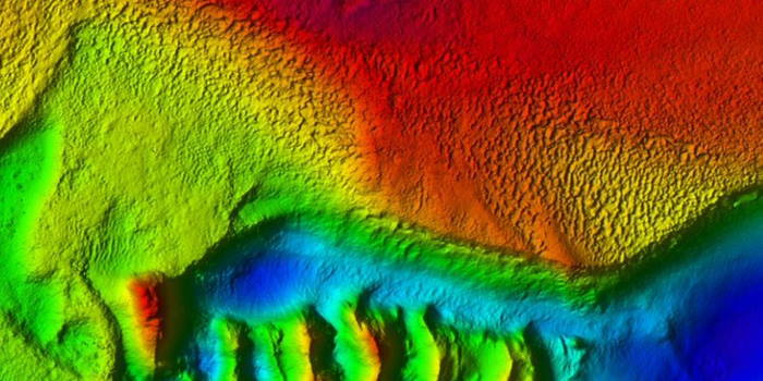 Bathymetry showing a possible erosional surface with a hard rugged seabed, featured in Africa PORTS & SHIPS maritime news