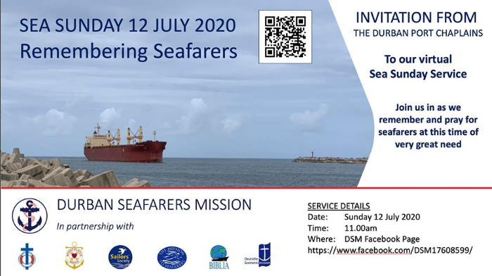 Seafarers Sunday banner flying in Africa PORTS & SHIPS maritime news