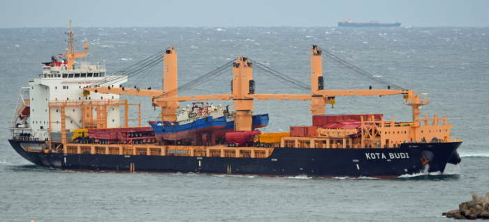 Kota Budi entering Durban harbour in 2014. Picture by Dave Leonard / courtesy Shipspotting, featured in Africa PORTS & SHIPS maritime news