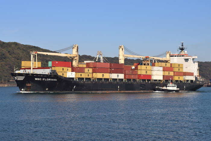 MSC Floriana Picture: Keith Betts featured in Africa PORTS & SHIPS maritime news