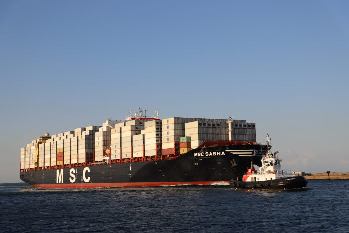 MSC Sasha arriving at Durban. Picture: Keith Betts, featured in Africa PORTS & SHIPS maritime news