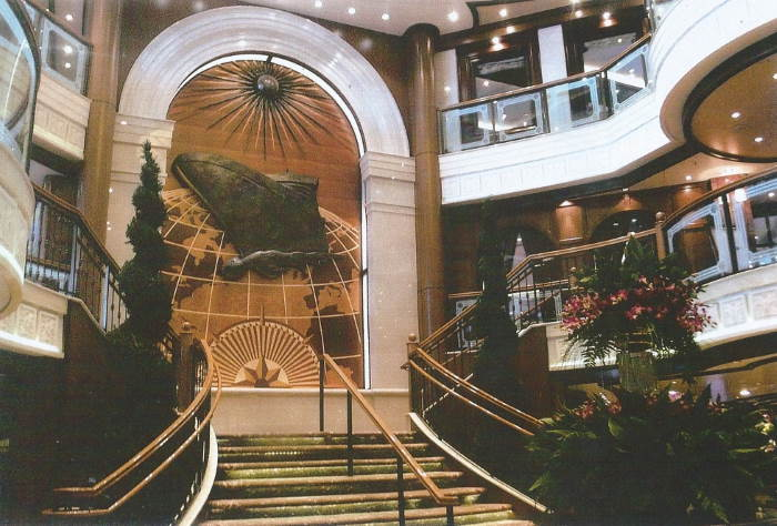 Not the Titanic Stairs -but the similar Victorian styled atrium. featured in Africa PORTS & SHIPS maritime news