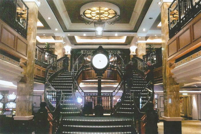 Timepiece of Elegance - Te Shopping Arcade with a Victorian styled timepiece with a distinct London theme (made by DENT & SONS, also creators of London's famed BIG BEN at Westminster), featured in Africa PORTS & SHIPS maritime news