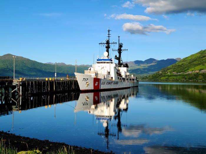 Our photograph shows Mellon at US Coast Guard Base Kodiak's fuel pier in Kodiak, Alaska, earlier this month. Mellon called there during the final patrol before the cutter's decommissioning on 20 August. US Coast Guard photo by Petty Officer 2nd Class John Arredondo. USCG featured in Africa PORTS & SHIPS maritime news