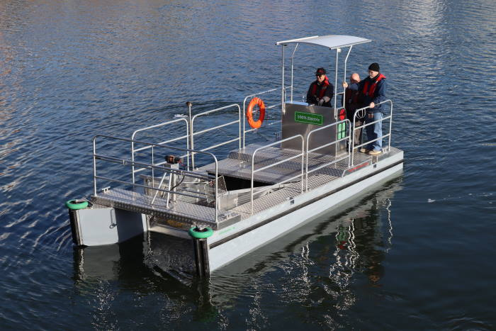Water Witch pollution control workboat, featured in Africa PORTS & SHIPS maritime news