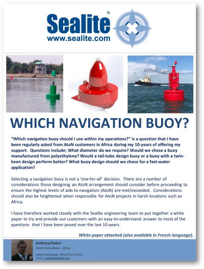 Which navigation buoy white paper, featured in Africa PORTS & SHIPS maritime news
