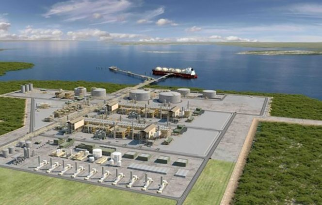 This is one of the gas production facilities underway in northe4rn Mozambique, operated by a consortium headed by Total., featured in Africa PORTS & SHIPS maritime news