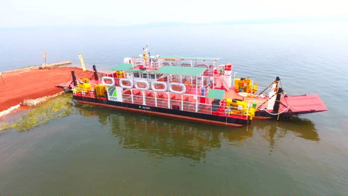 The new ferry on Lake Victoria operating between Buvuma and Kiyindi, featured in Africa PORTS & SHIPS maritime news
