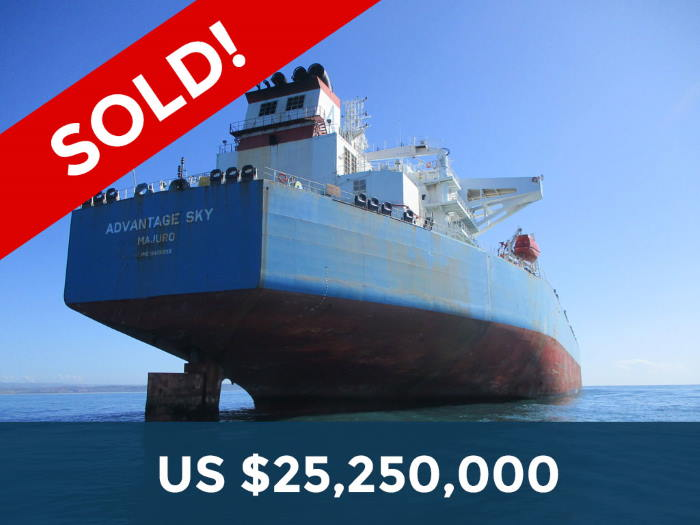 Advantage Sky, auctioned from Cape Town and fgeatured in Africa PORTS & SHIPS maritime news