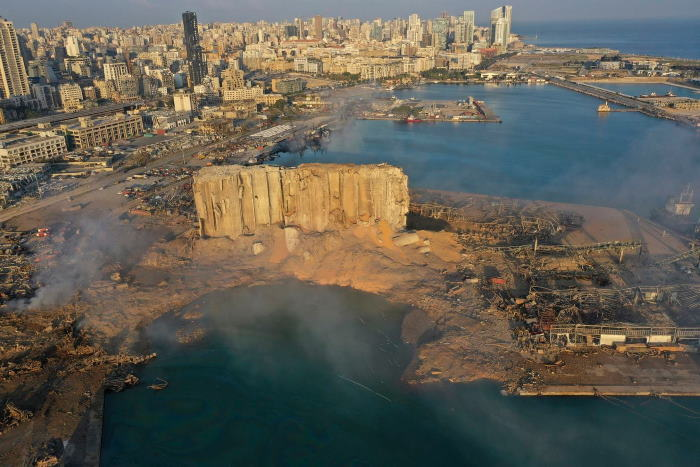 Beirut after the explosion of 4 August 2020, featured in Africa PORTS & SHIPS maritime news