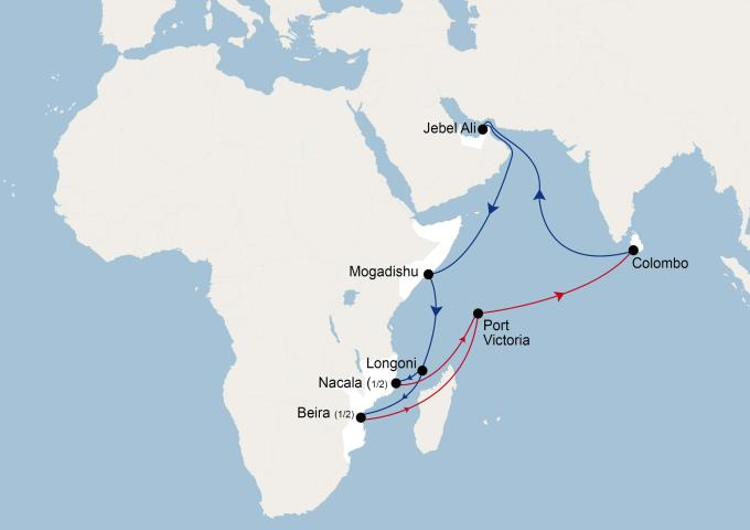 CMA CGMNoura service upgraded, featured in Africa PORTS & SHIPS maritime news