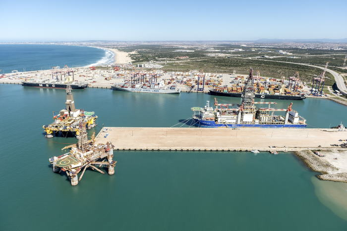 A busy Port of Ngqura scene, with three oil rig vessels in port in addition to several container ships. This was taken a couple of years ago, featured in Africa PORTS & SHIPS maritime news