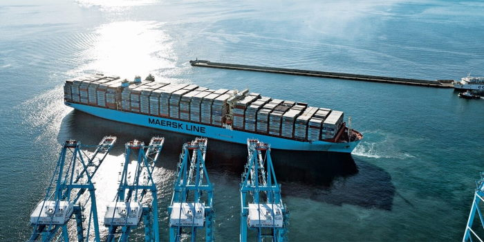 Maersk Line contaner vessel at Algeciras, featured in Africa PORTS & SHIPS maritime news