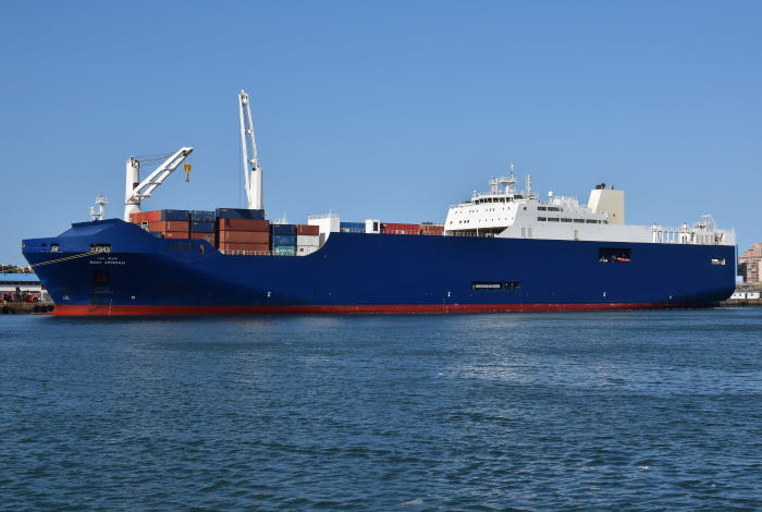 Bahri Jeddah at Durban Picture: Trevor Jones, featured in Africa PORTS & SHIPS maritime news