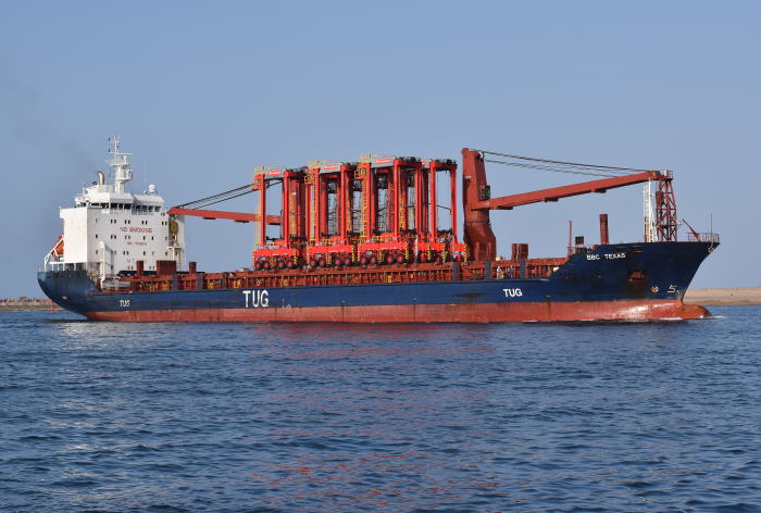 BBC Texas arrivung at Durban Sept 2020 Picture by Trevor Jones, appearing in Africa PORTS & SHIPS maritime news