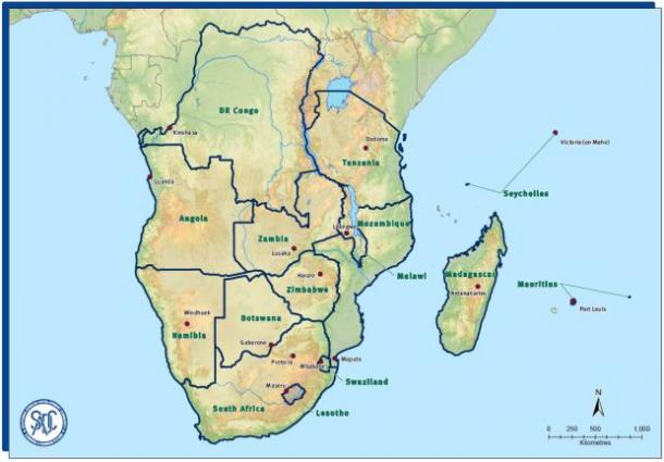 The states within the Southern Africa Development Community. Map: SADC©, featured in Africa PORTS & SHIPS maritime news