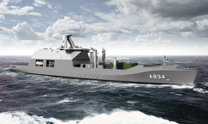 The future HNLMS Karel Doorman combat support vessel for the Royal Netherlands Navy, fatured in Africa PORTS & SHIPS maritime news